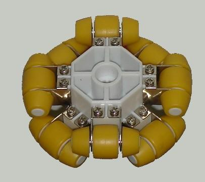 LEGO Mindstorm omniwheel or holonomic wheel isometric view